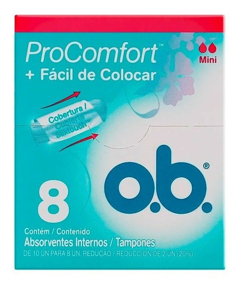 Absorvente O.b Pro Comfort Mini Com 8 Unidades