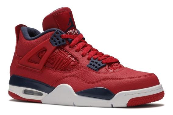 Tênis Nike Air Jordan 4 Retro Fiba Gym Red Obsidian White.