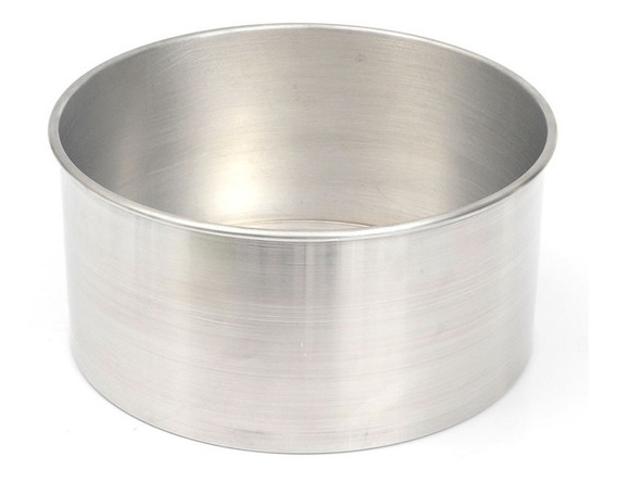Forma Redonda Alta Fundo Fixo 20x10cm Alumínio