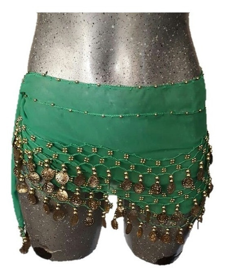 Fajilla Gasa Belly Dance Monedas Danza Árabe Baile