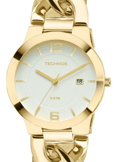 Relógio Technos Feminino Dourado 2115ul/4b