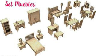 Set De Muebles Para Muñecas - 29 Piezas Ideal Mansion