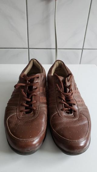 Sapato Em Couro Legítimo, Tamanho 42, Barbada