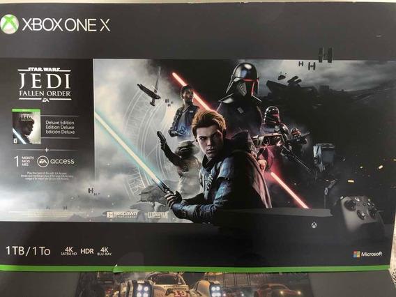 Xbox One X 1tb Deluxe Edition Star Wars Jedi 4k Usado