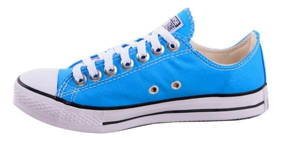 Tênis Converse All Star Cano Baixo Azul Celeste Luccas Neto