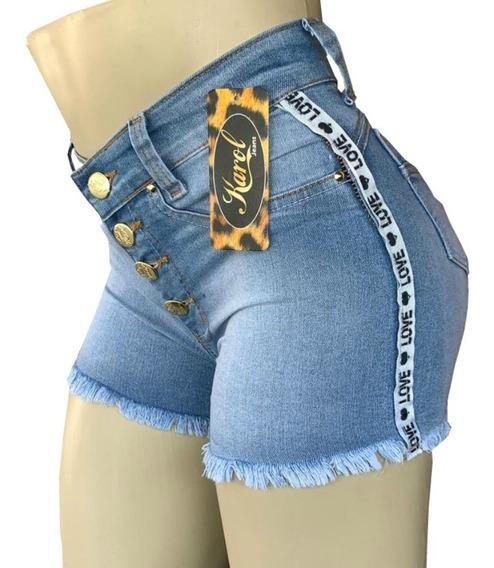 Shorts Cintura Alta Feminino Kit Com 2