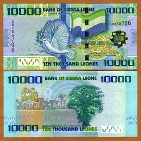 Serra Leoa 10000 Leones 2010 P. 33 Fe Cédula - Tchequito