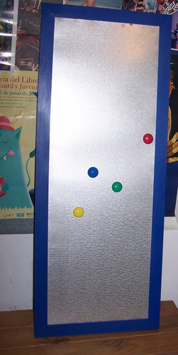 Cartelera O Pizarra Metálica Para Imanes 70x40
