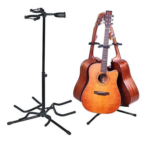 Pie Soporte De Guitarra Bajo Plegable Triple Super Reforzado