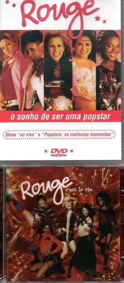 Kit Com 3 Dvds + 6 Cds Rouge - O Sonho De Ser Uma Popstar