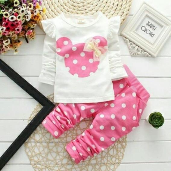 Roupa De Bebê Conjunto Menina Minnie Importado