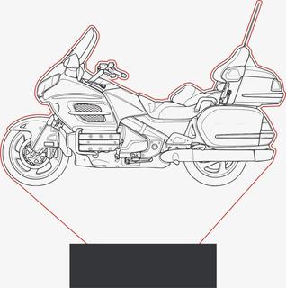 Luminária Moto 3d Abajur Display - Honda Gold Wing 1500