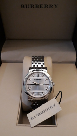 Relógio Burberry Em Aço (original Com Certificado + Estojo)