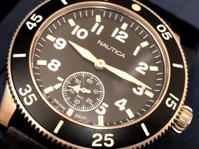 Relógio Nautica Estilo Heritage Wr 100 M 44mm De Diâmetro