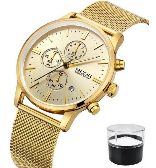 Relógio Megir Original Com Cronógrafo Modelo 2011
