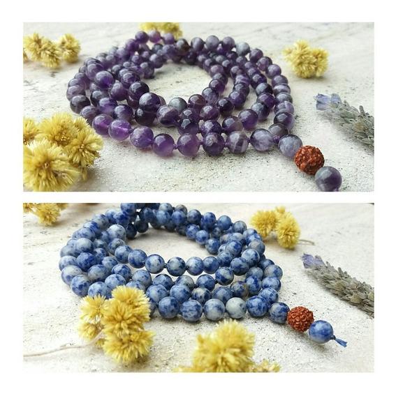 2 Japamalas 108 Pedras Naturais 8mm Prana Yoga A Sua Escolha