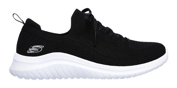 Skechers Zapatillas Running Mujer Ultra Flex 2.0 Negro Ras