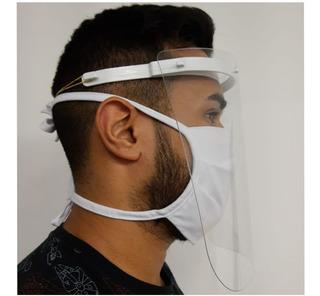 Máscara Proteção Facial Pano - Viseira Plástica Pandemia