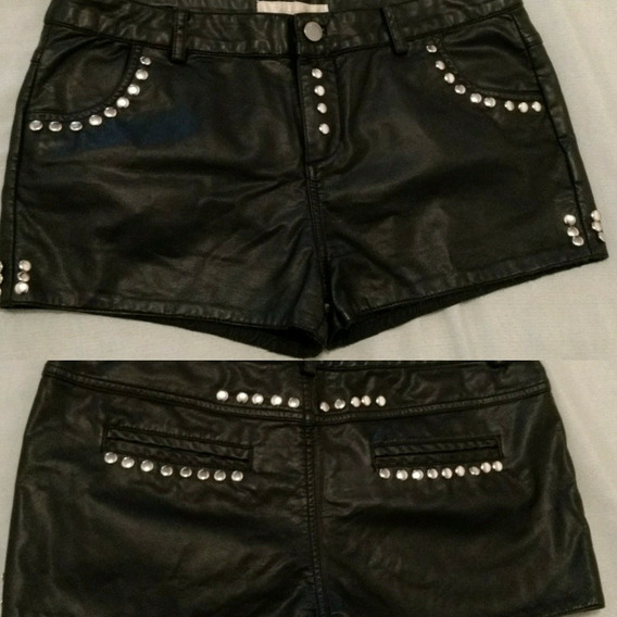 Short Ecocuero Con Remaches Tachas. Rock/metal