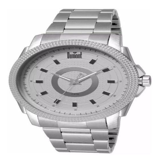 Relógio Dumont Masculino Casual Prateado Du2035lsr/1k