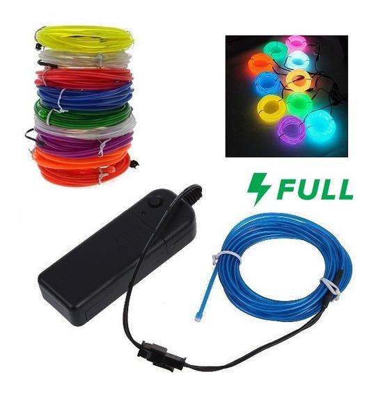 Wire Hilo 3 M Gratis Luz Neon Dj Cable Tron Led Flexi Lum