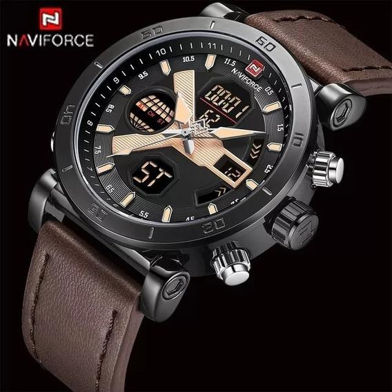 Relógio Masculino Analógico Digital Militar Luxo Naviforce
