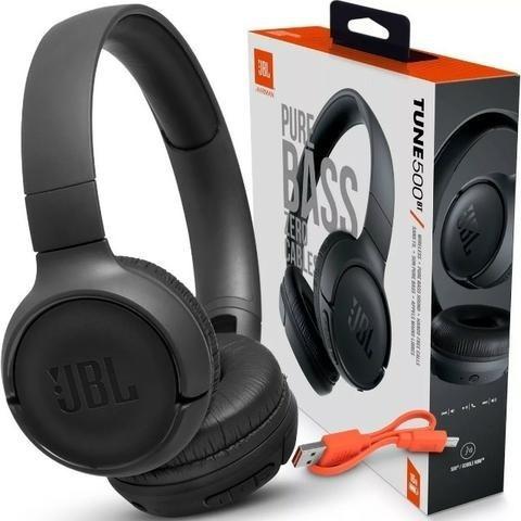 Fone Jbl T500bt Bluetooth T500 Bt C/ Nfe E Garantia 1 Ano