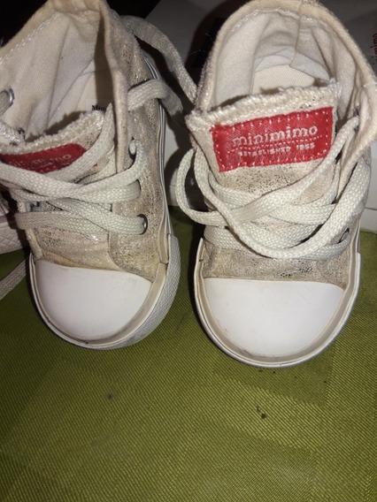 Zapatillas Mimo Doradas 18 Usadas