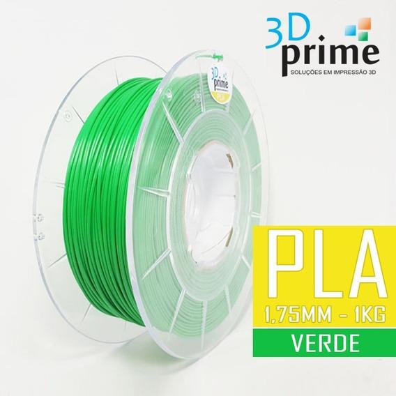 Filamento 3d Prime Pla Verde 1,75mm 1kg