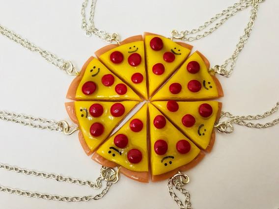 Dije De Pizza Mejores Amigas 8 Piezas Con Cadena
