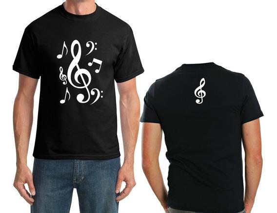 Camiseta Notas Musicais Masculino