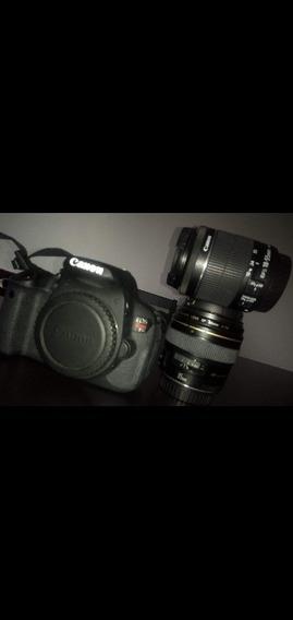 Câmera Canon Eos T5i Com 2 Lentes Usada