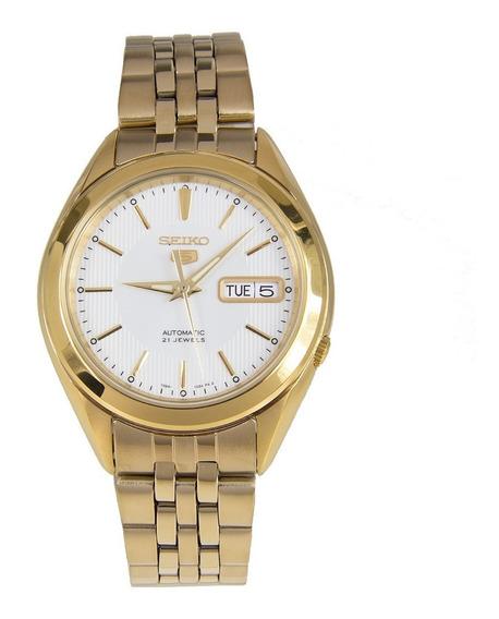 Relógio Seiko Automático 21 Jewels Unissex Dourado Snkl26k1