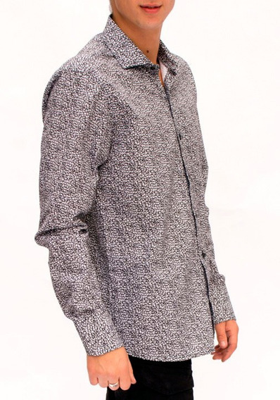 Camisa De Hombre Con Flores Mangas Largas Romana