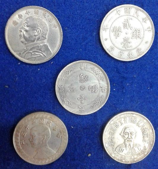 China 20 Cents 1907-1926 * Imperio Y Republica * 5 Monedas *
