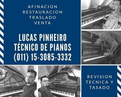 Técnico Afinador Restaurador De Pianos - Traslados - Ventas