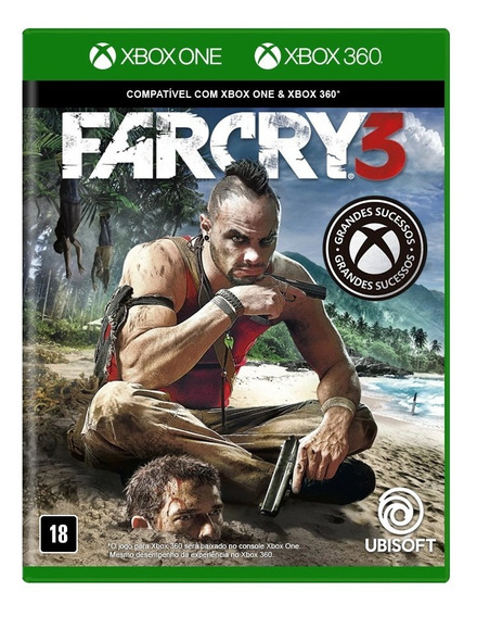 Far Cry 3 Xbox 360 E Xbox One Mídia Física Novo Lacrado