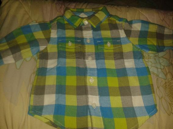 Camisa Para Bebe Gynboree Talla 3 A 6 Meses Casi Nueva