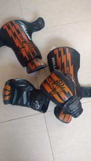 Kit Muay Thai- Luvas E Caneleiras