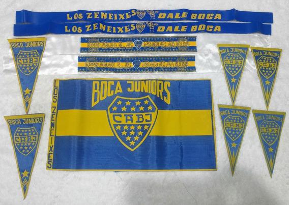Coleccion Bandera Vincha Banderin Retro Boca Juniors Bj04a