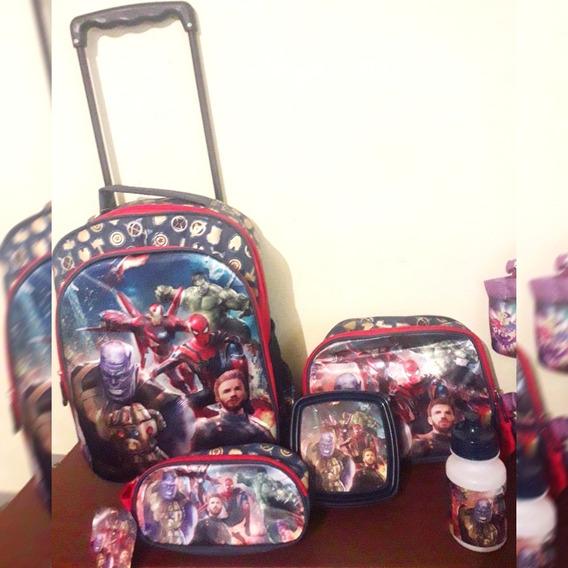 Mochila Escolar The Avengers (lonchera+cartuchera Gratis!)