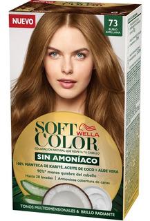 Tintura Wella Sin Amoniaco Kit Soft Color 73 Rubio Avellana