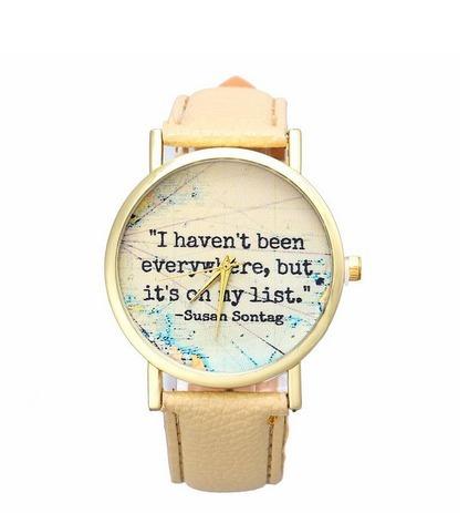 Relógio Luxo Frase De Viagem