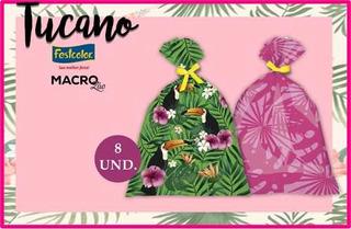Festa Do Tucano Sacola Surpresa Aniversário 8 Und.