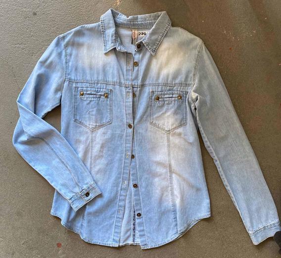 Camisa De Mujer De Jean Marca Inquieta T. 40