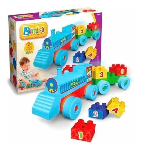 Juguete Tren Didáctico Con Bloques Bimbi Original
