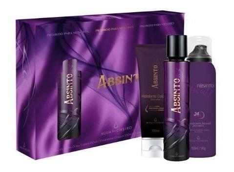 Kit Absinto (perfume+hidratante+desodorante) Água De Cheiro