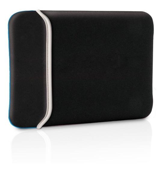 Bolsa Case Para Netbook 10¿ Neoprene Dupla Face Preto/azul