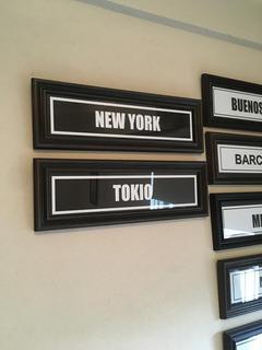 Cuadros Ciudades Cartel Vintage 15x45 New York Paris Tokio