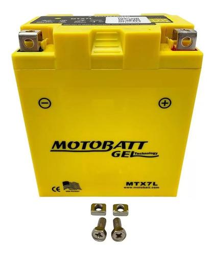 Bateria Motobatt Mtx7l Cbx250 Twister Fazer Titan 7ah 12v